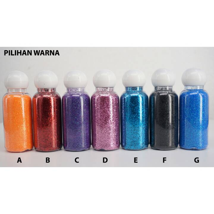 Bubuk Glitter Doff Besar