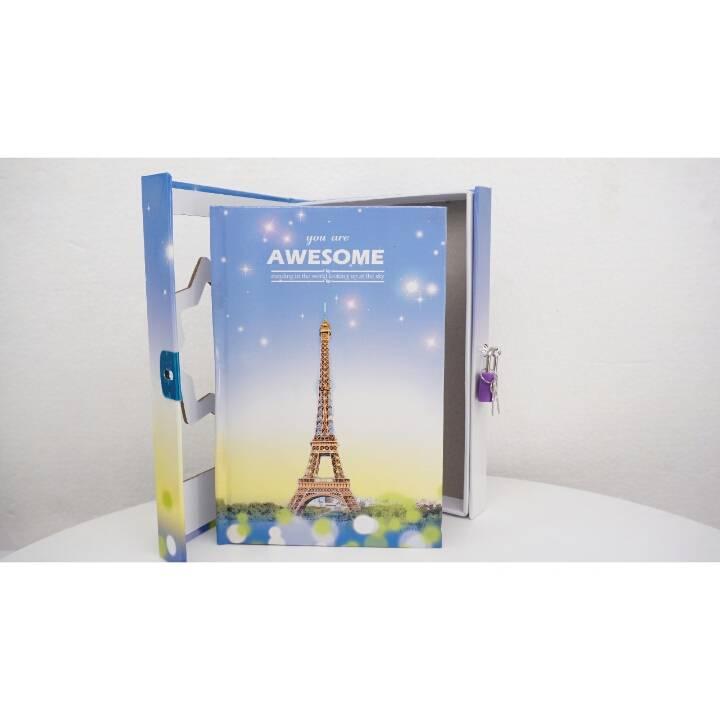 Buku Diary / Catatan With Padlock Sky Tower2