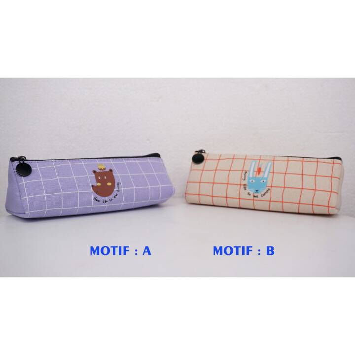 Kotak Pensil - Tempat Pensil Karakter - Pencil Case - Tq 196