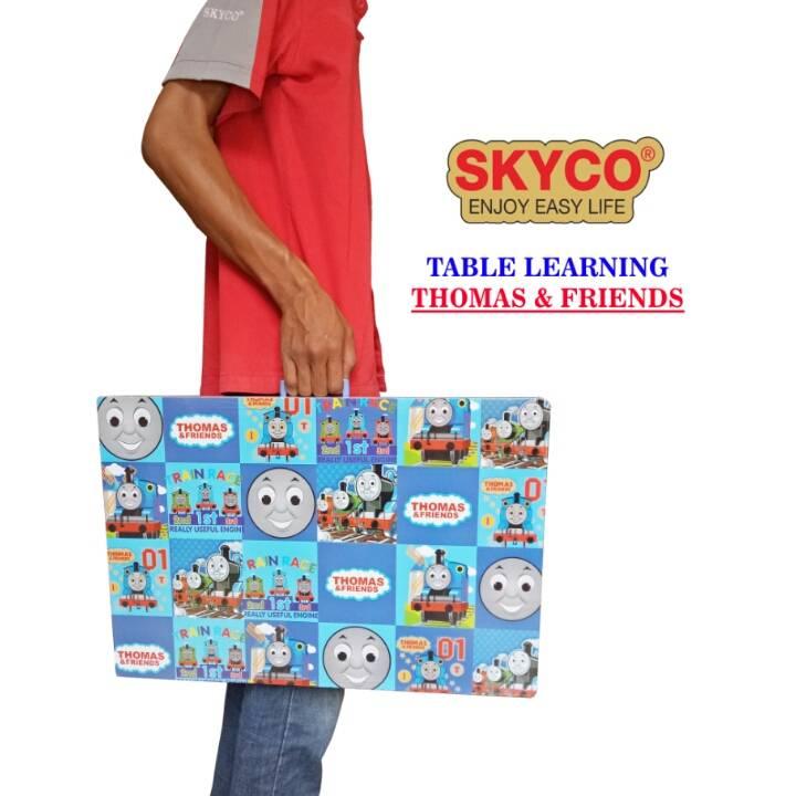 Meja Belajar Anak / Kids Table / Meja Belajar Lipat Motif Thomas