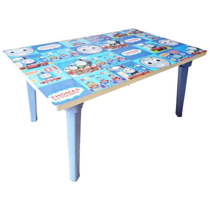 Meja Belajar Anak / Kids Table / Meja Belajar Lipat Motif Thomas4