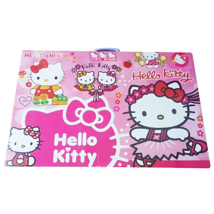 Meja Belajar Anak / Kids Table / Meja Belajar Lipat Motif Hello Kitty2