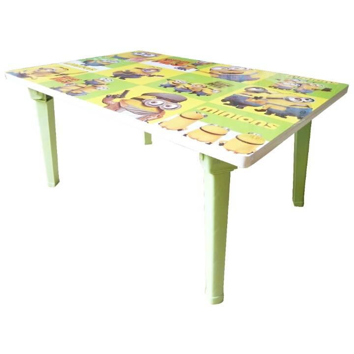 Meja Belajar Anak / Kids Table / Meja Belajar Lipat Motif Minions3