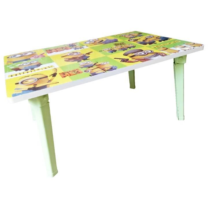 Meja Belajar Anak / Kids Table / Meja Belajar Lipat Motif Minions4