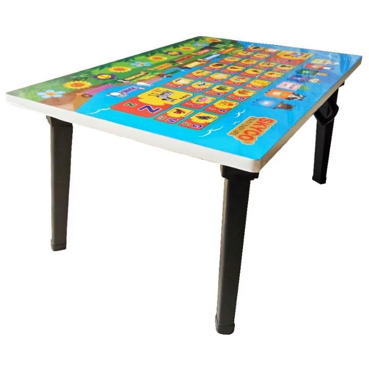 Meja Belajar Anak / Kids Table / Meja Belajar Lipat Motif Alphabet4