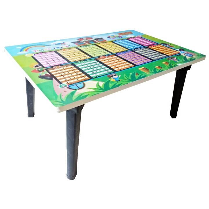 Meja Belajar Anak / Kids Table / Meja Belajar Lipat Motif Perkalian3