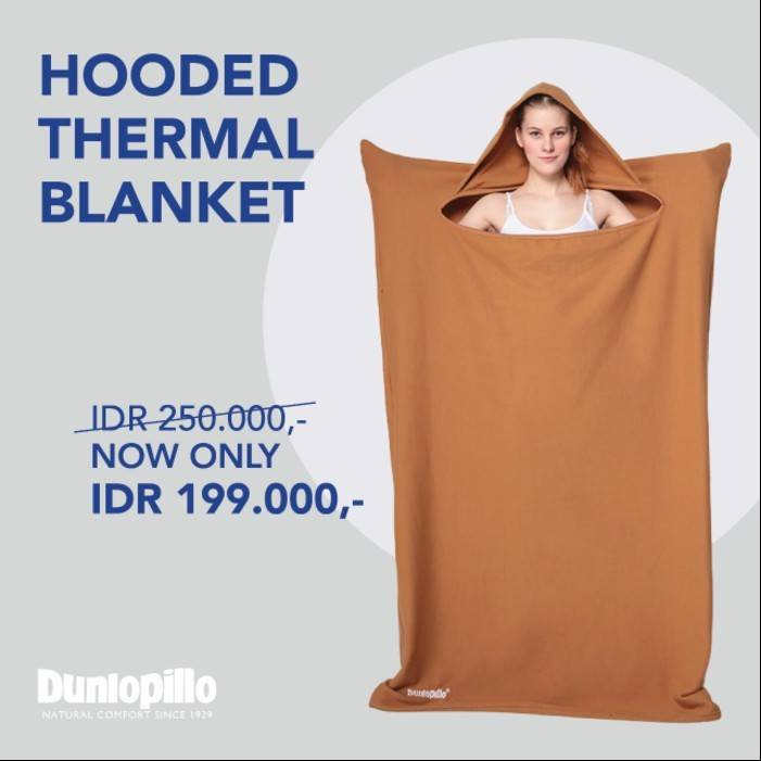 Selimut Dunlopillo Hooded Thermal Blanket