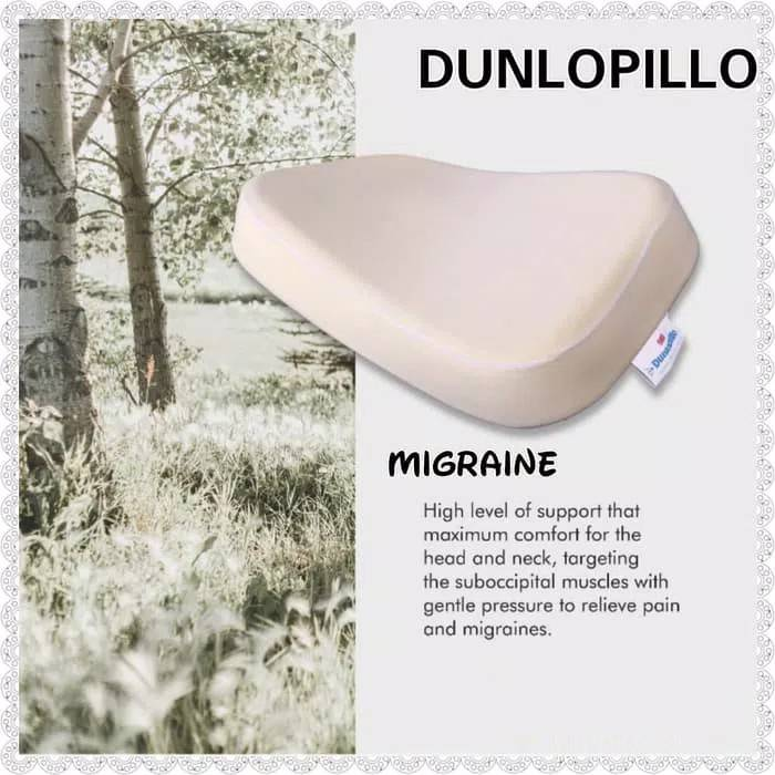 Dunlopillo Bantal Latex Migraine1
