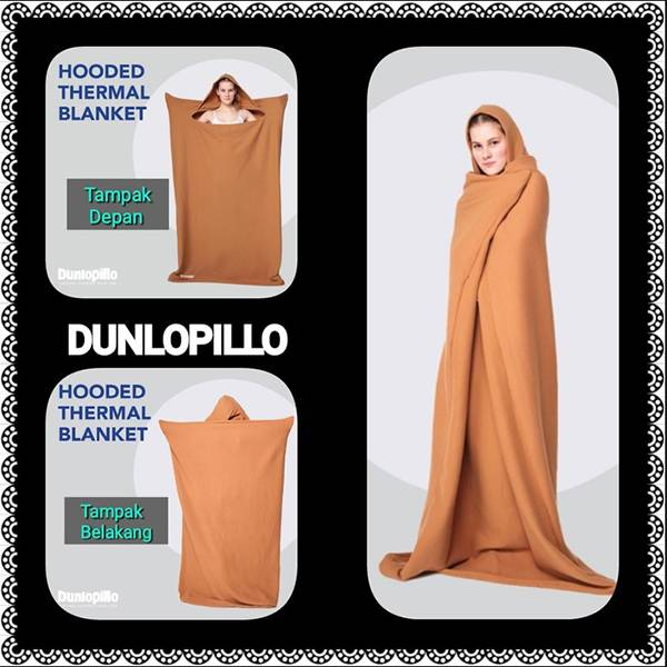 Selimut Dunlopillo Hooded Thermal Blanket0