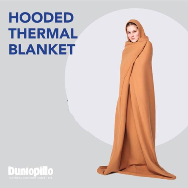 Selimut Dunlopillo Hooded Thermal Blanket2