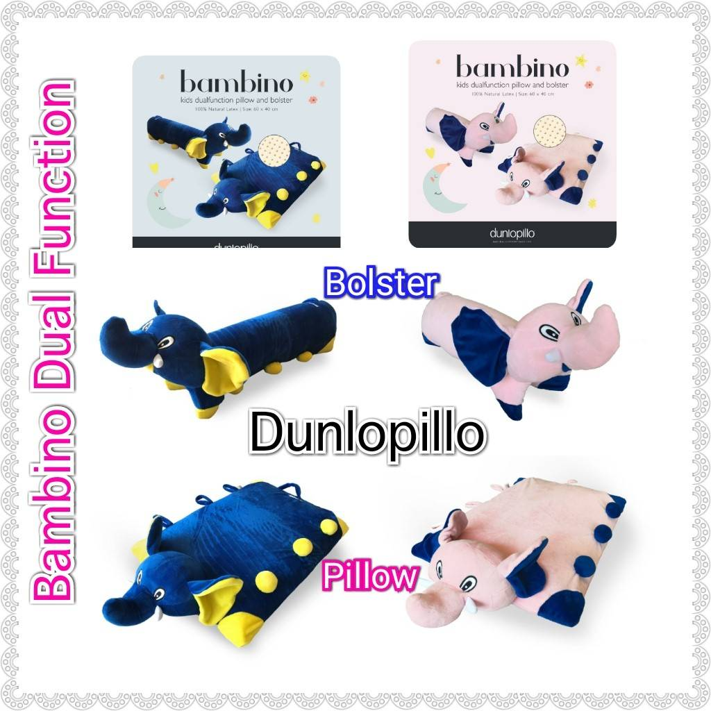 Dunlopillo Bambino Latex multifunction 2 in 1 (Bantal Guling)0