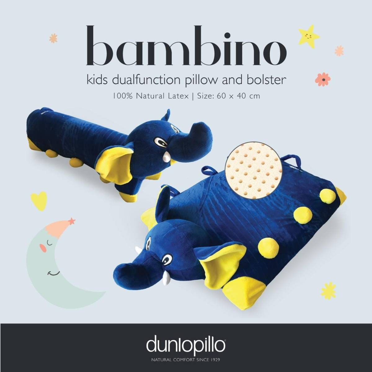 Dunlopillo Bambino Latex multifunction 2 in 1 (Bantal Guling)1