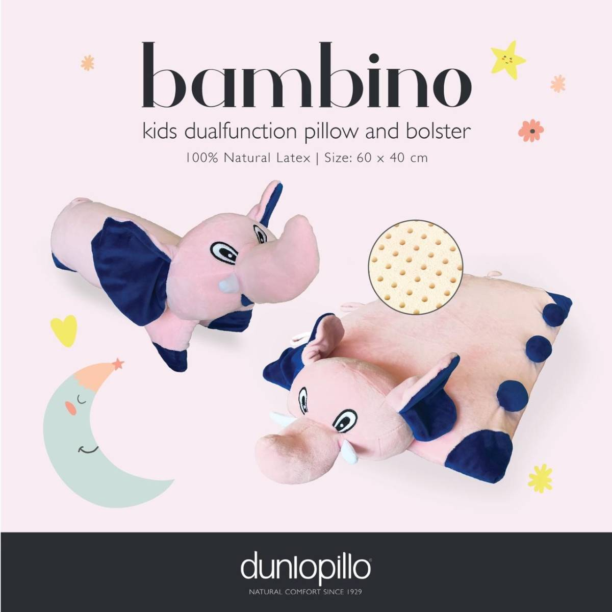 Dunlopillo Bambino Latex multifunction 2 in 1 (Bantal Guling)2