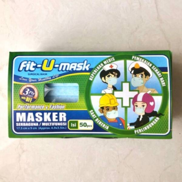 Fit U Mask Earloop dan Headloop masker murah 3Ply0