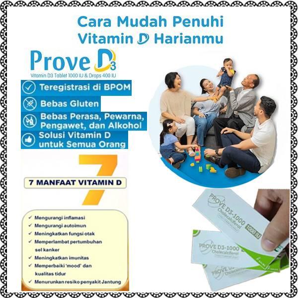 Prove D Vitamin D3 1000 IU Untuk Dewasa Vitamin-Tulang.