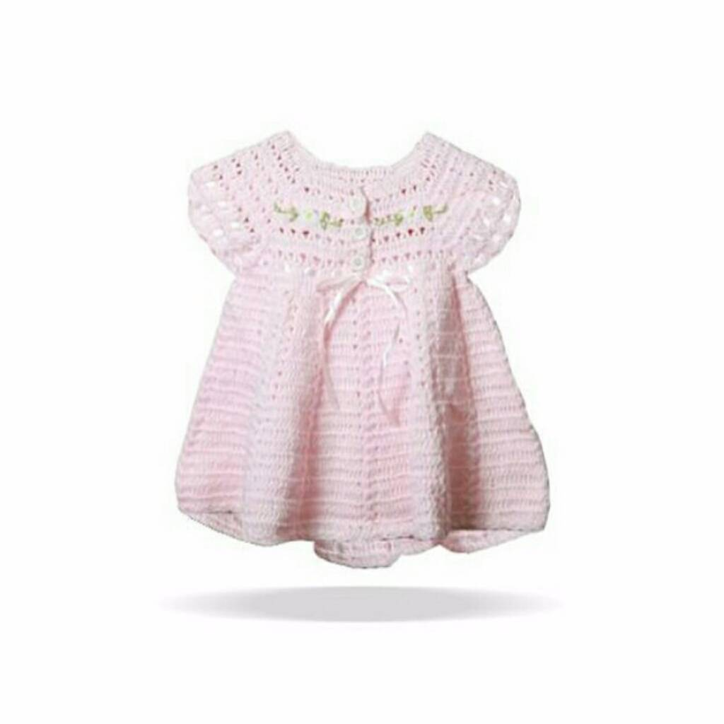 Dress Embroi Pink0
