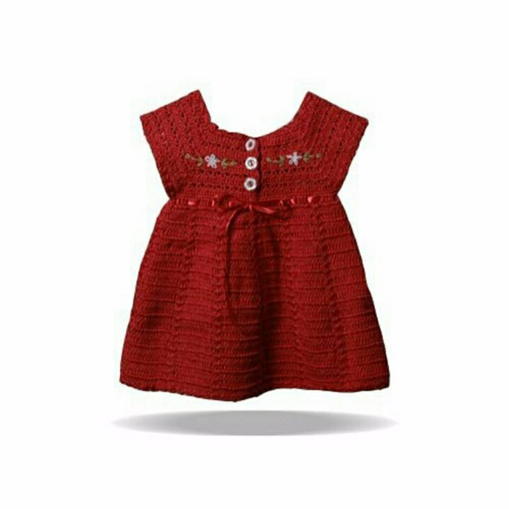 Dress Embroi Maroon