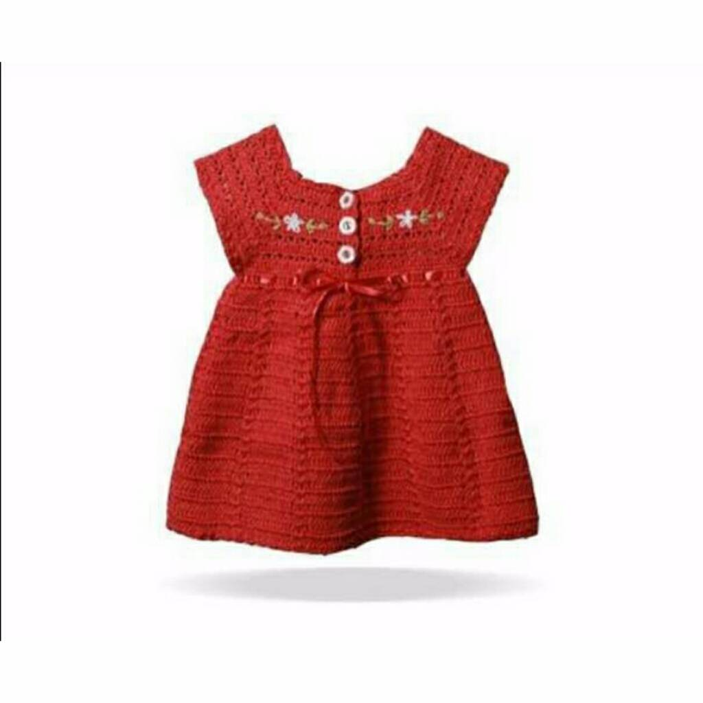 Dress Embroi Merah