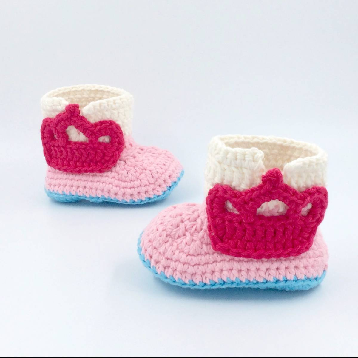 Cute Baby Shoe With Crown