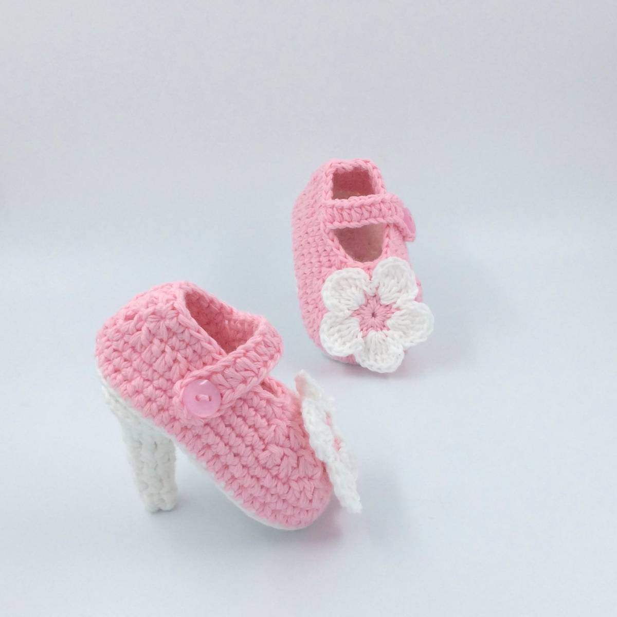 Cute Baby Hi Heels With Flower