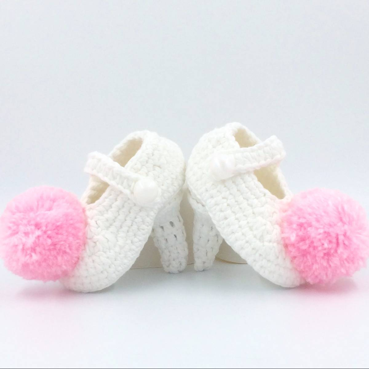 Cute Baby Hi Heels With Poms
