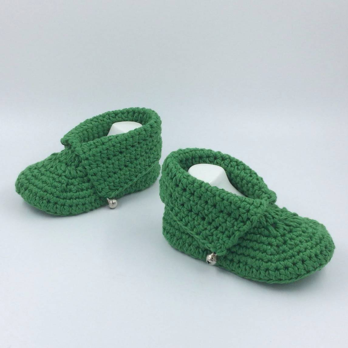 Cute Baby Shoe In Full Green