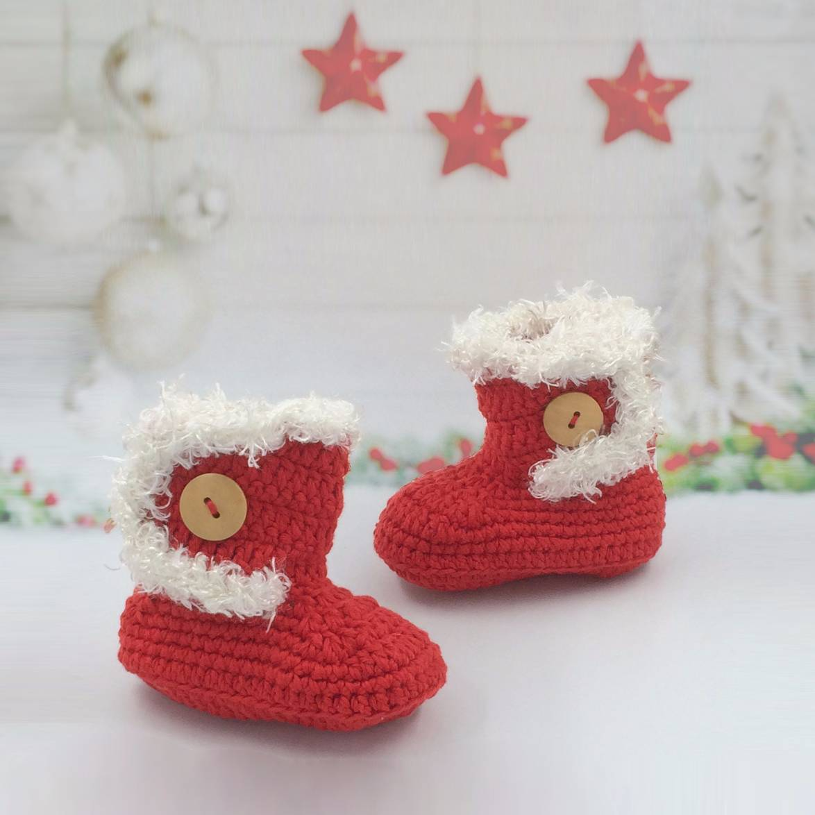 Baby Boot Christmas Theme
