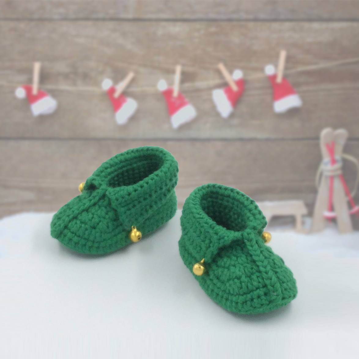 Baby Shoe Christmas Theme