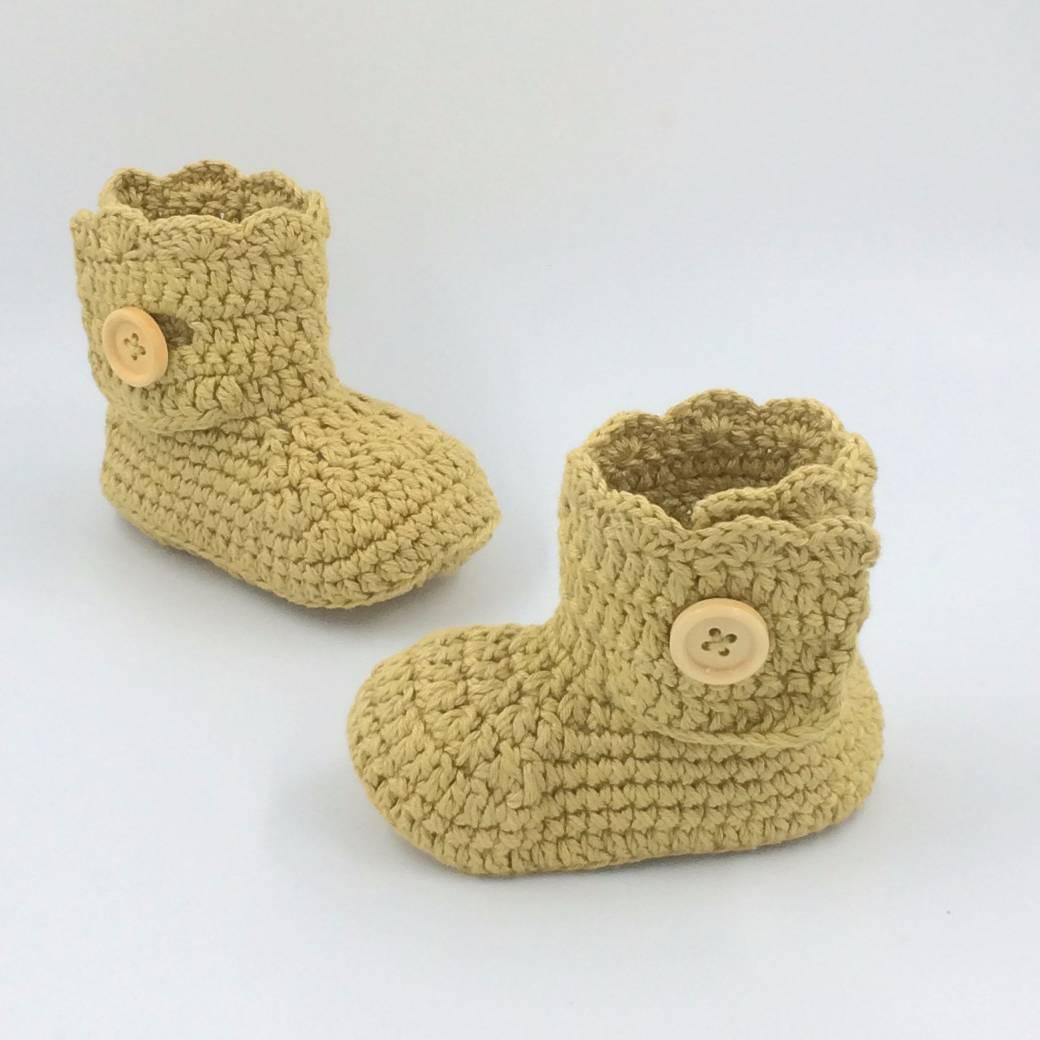 Sepatu Rajut Mustard