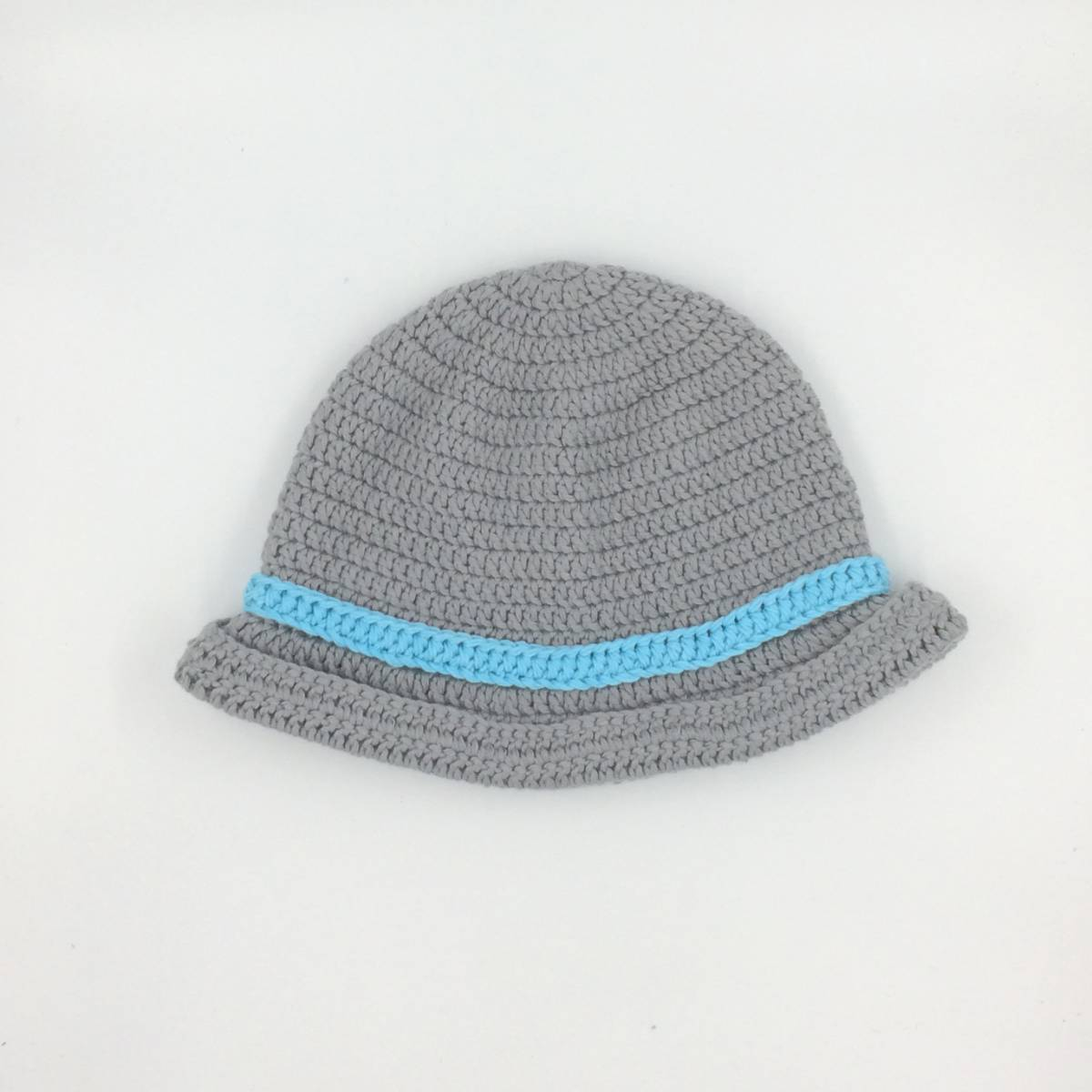 Topi Rajut Blue Stripe