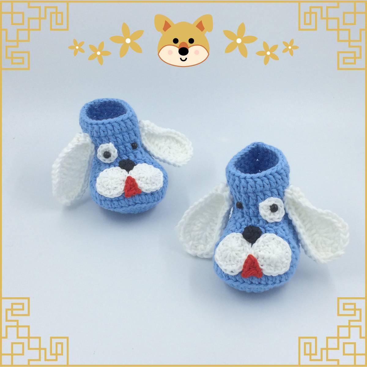 Sepatu Rajut Blue Dog