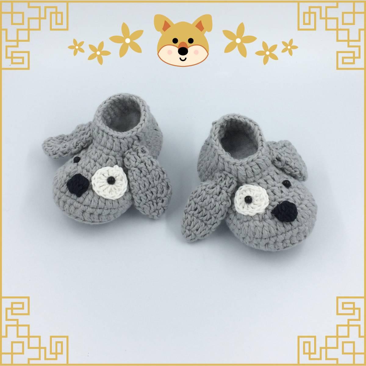 Sepatu Rajut Grey Dog