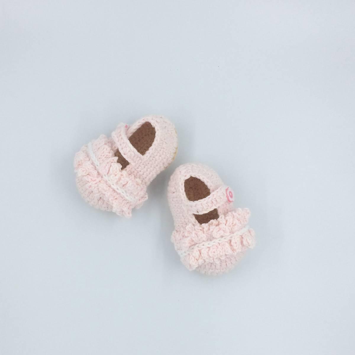 Sepatu Rajut Baby Pink