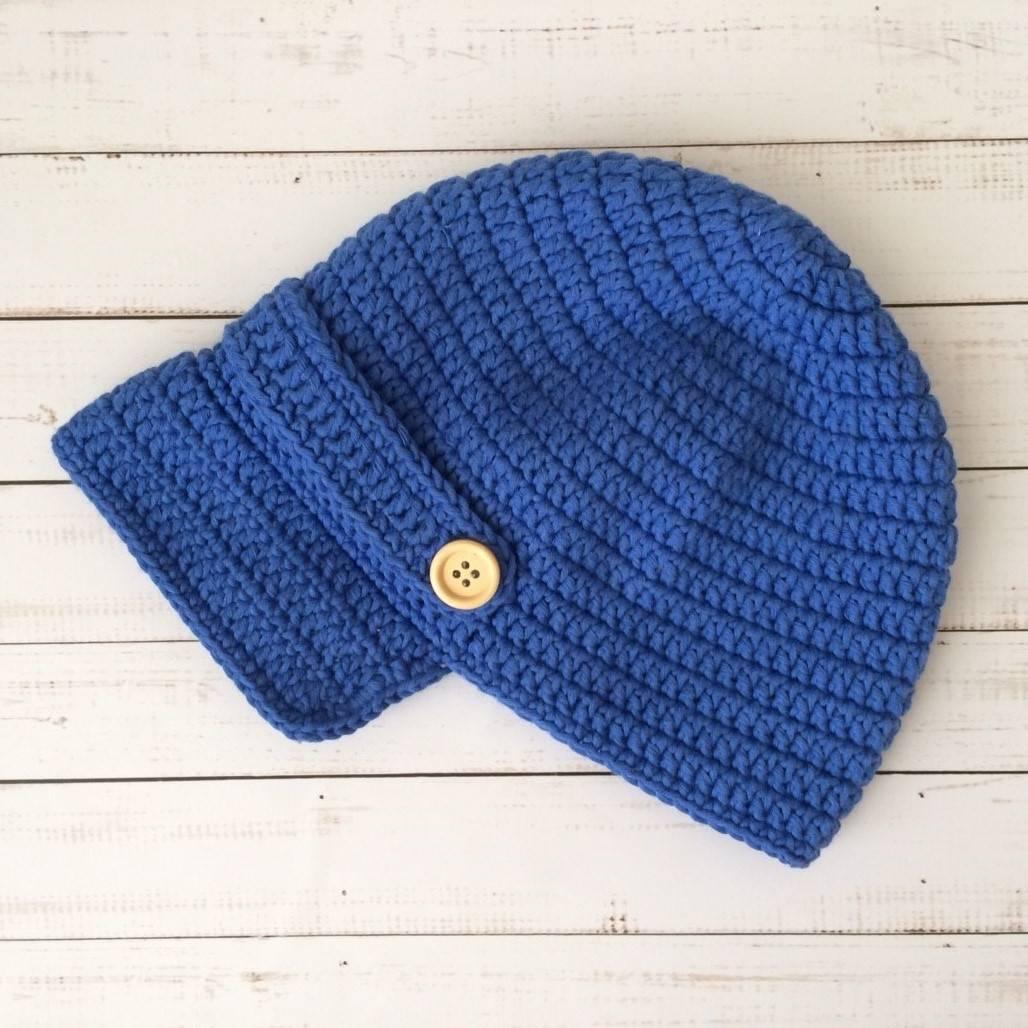 Topi Rajut Pad Blue0