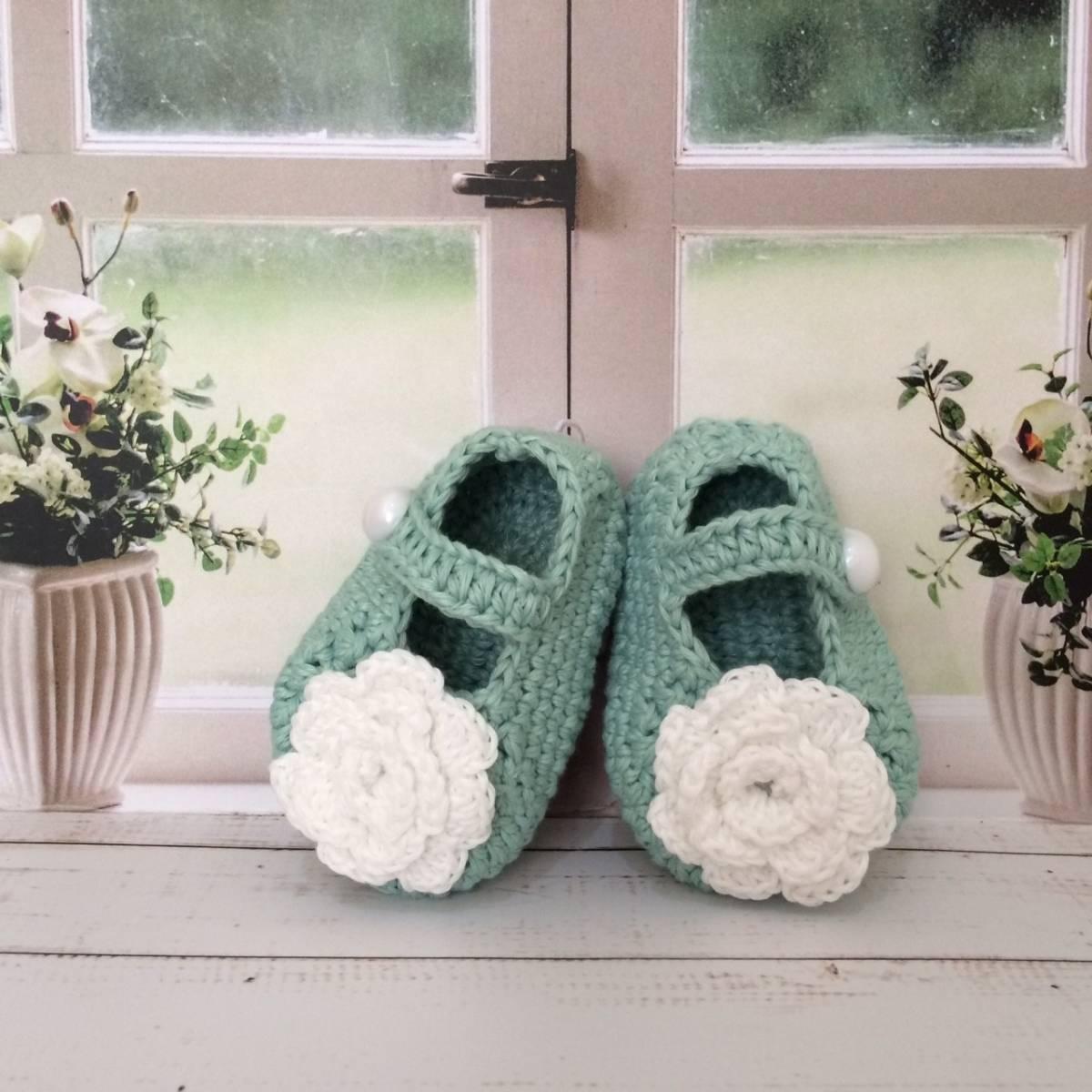 Sepatu Rajut Bunga White1