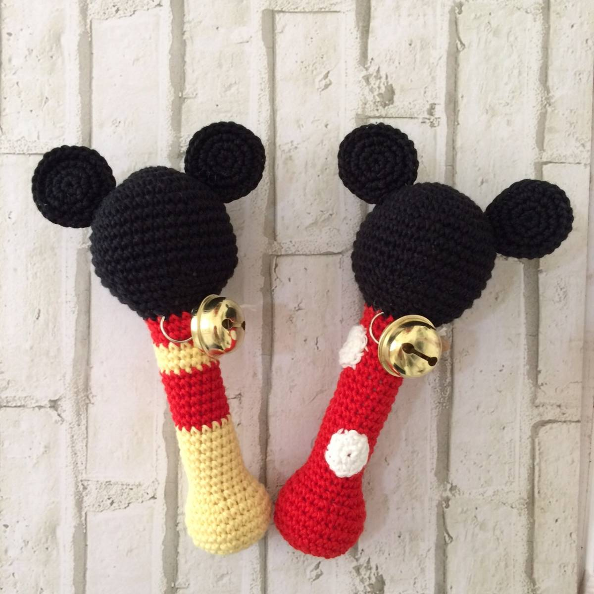 Rattle Rajut Micky Mouse