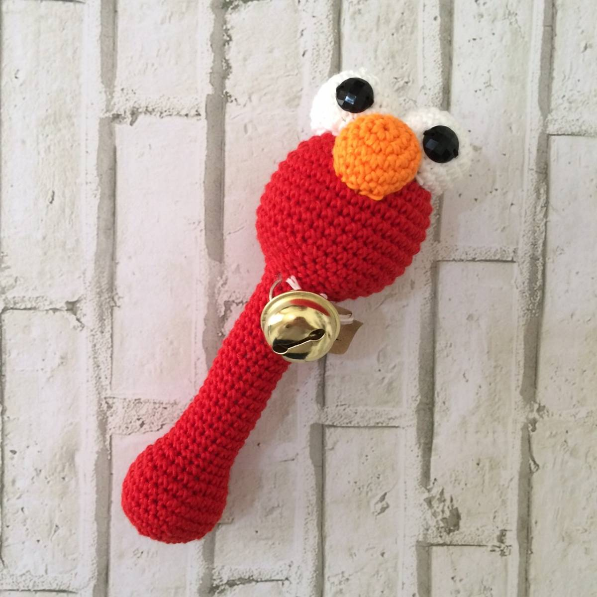 Rattle Rajut Elmo Red
