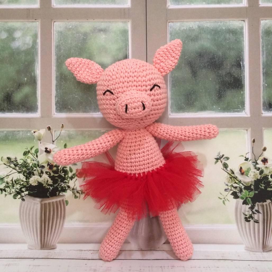 Boneka Rajut Piggy Pink