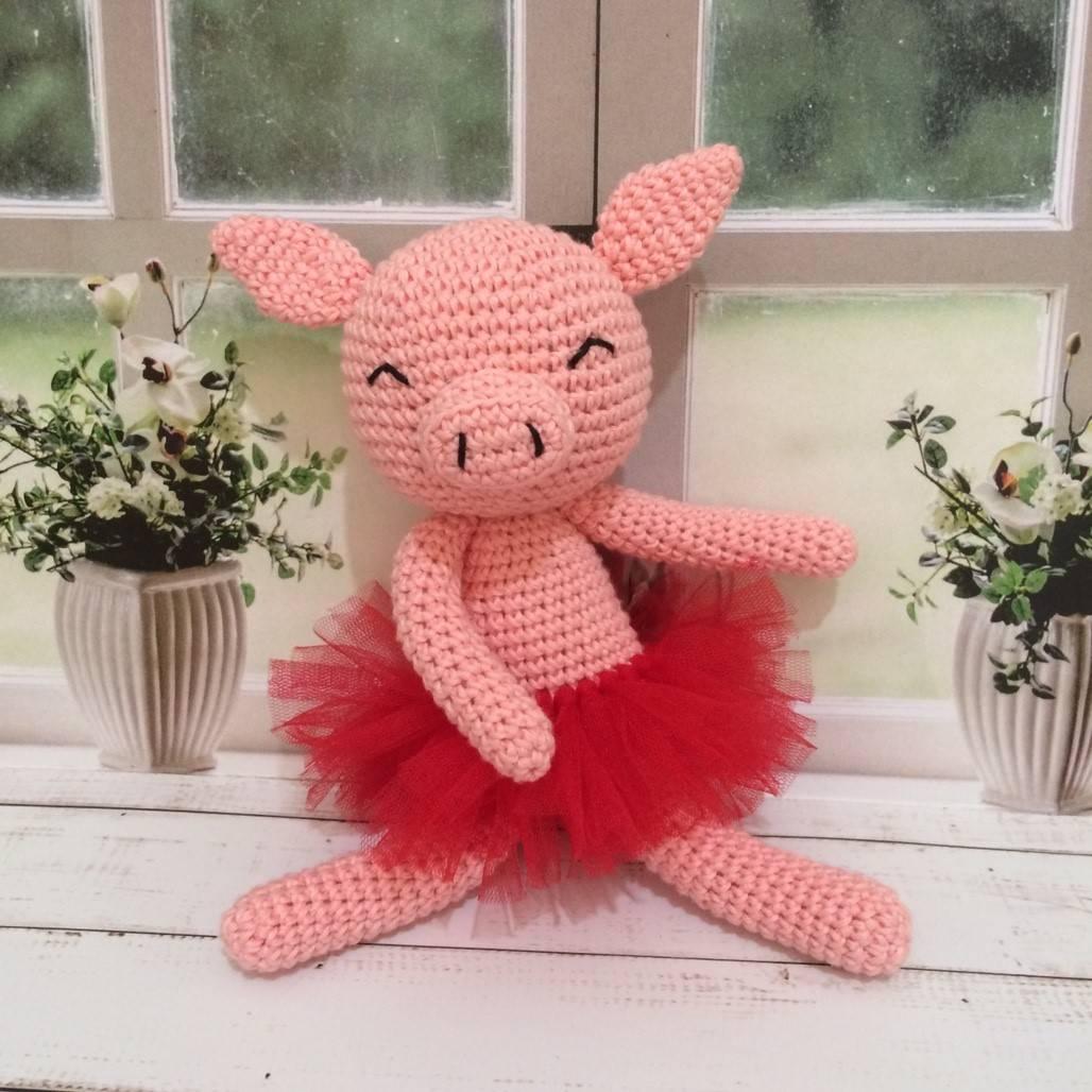 Boneka Rajut Piggy Pink1