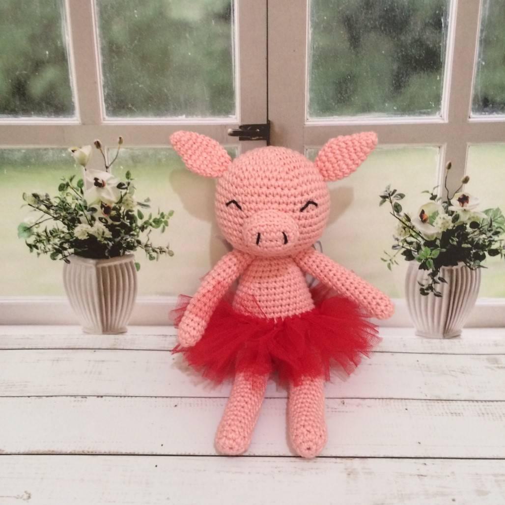 Boneka Rajut Piggy Pink2