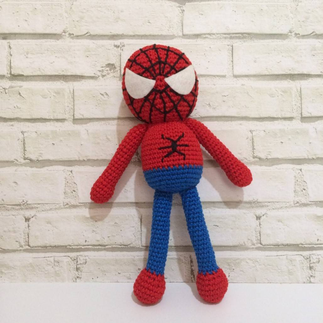 Boneka Rajut Spiderman