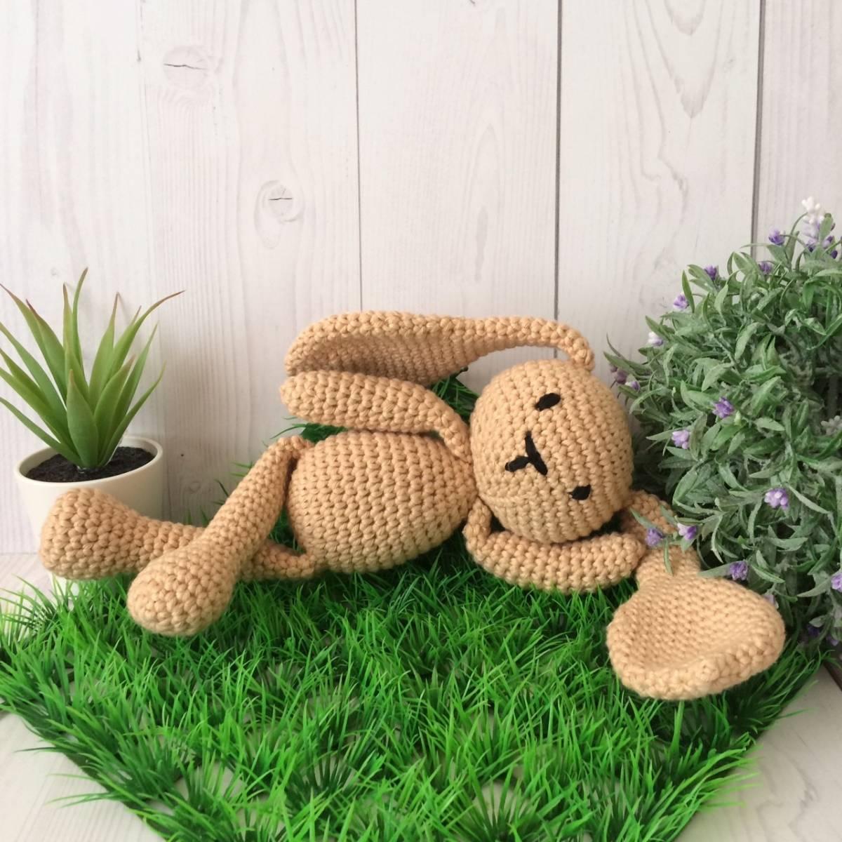 Boneka Rajut Bunny Brown0