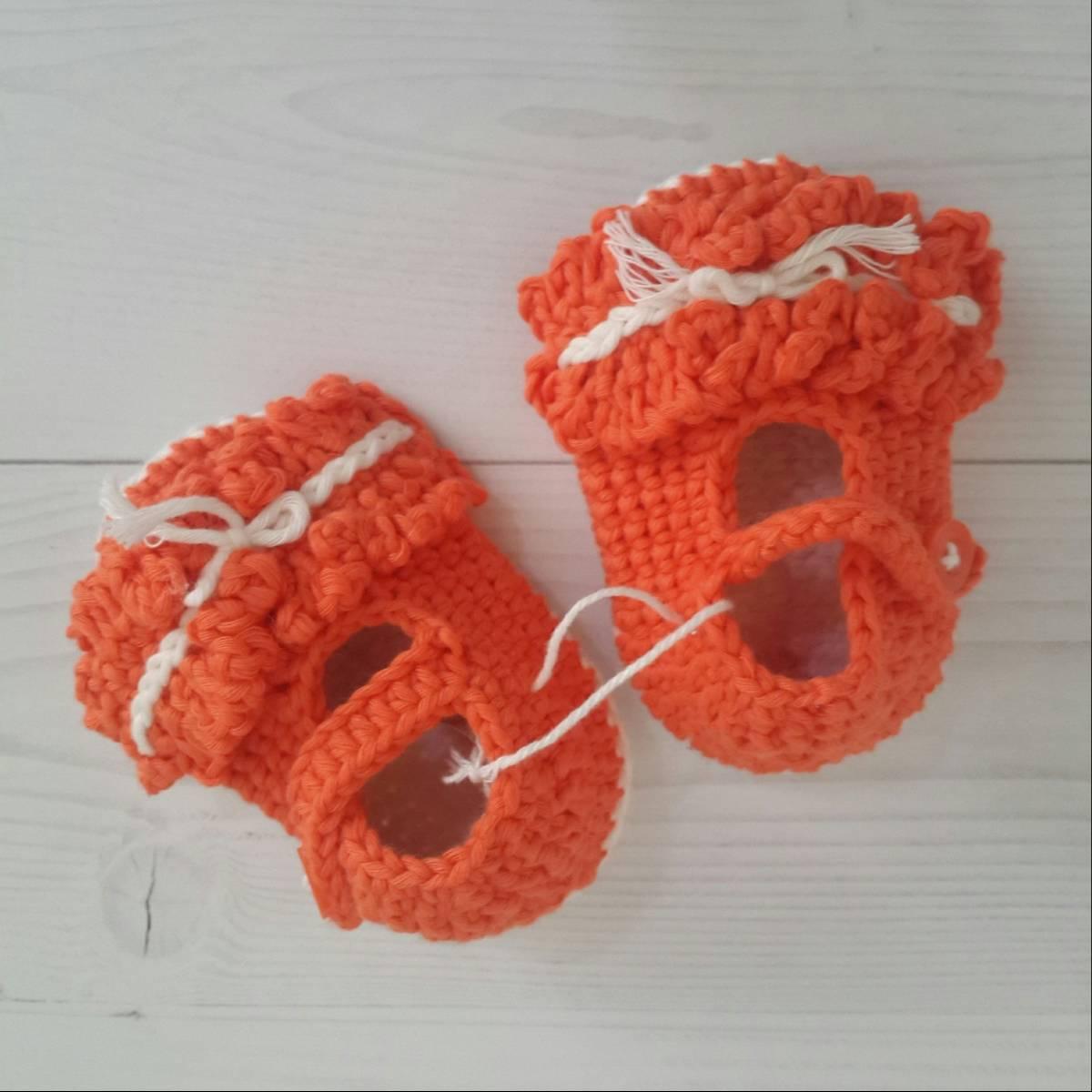 Sepatu Rajut Orange0