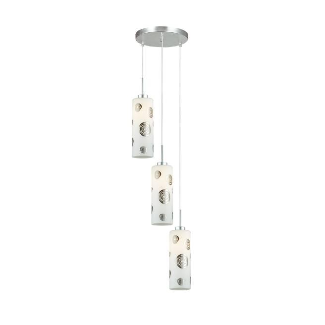 Lampu Gantung Pendant 3 Lamp Round White  Kode : 3+dl-pnp08-3r-ah