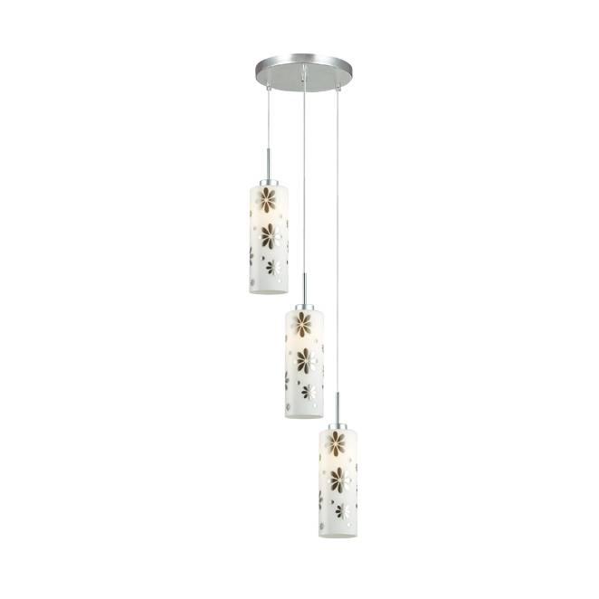Lampu Gantung Pendant 3 Lamp Round White 3+dl-pnp06a-3r-ah