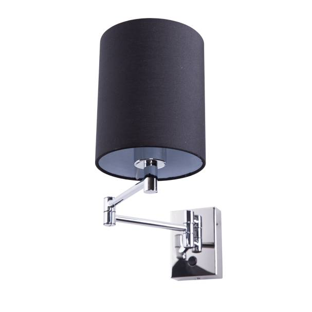 Lampu Dinding / Wall Lamp Black Gauze Fabric Shade 3+wd3008-1-bl-vg