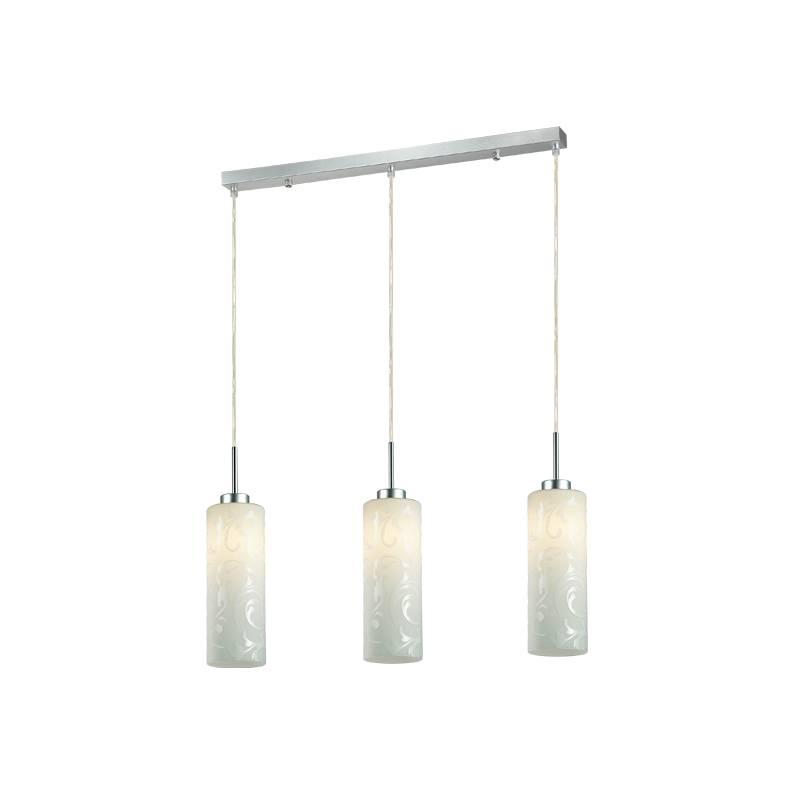 Lampu Gantung Pendant 3 Lamp Rectangular White  3+dl-pnp06a-3l-ah