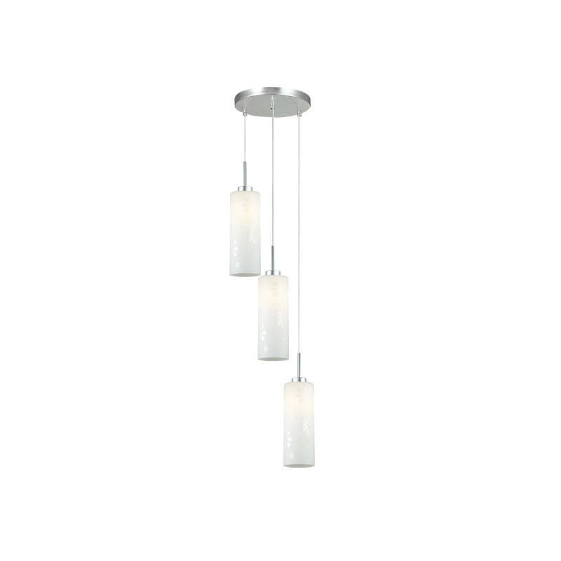 Lampu Gantung Pendant 3 Lamp Round White  3+dl-pnp07a-3r-ah