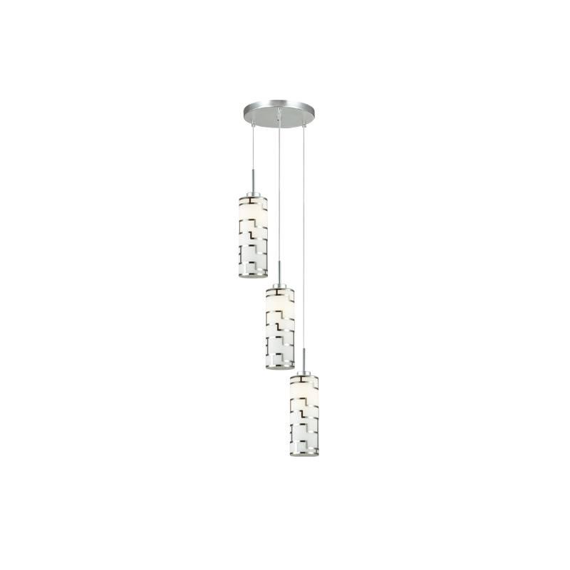 Lampu Gantung Pendant 3 Lamp Round White 3+dl-pnp09-3r-ah