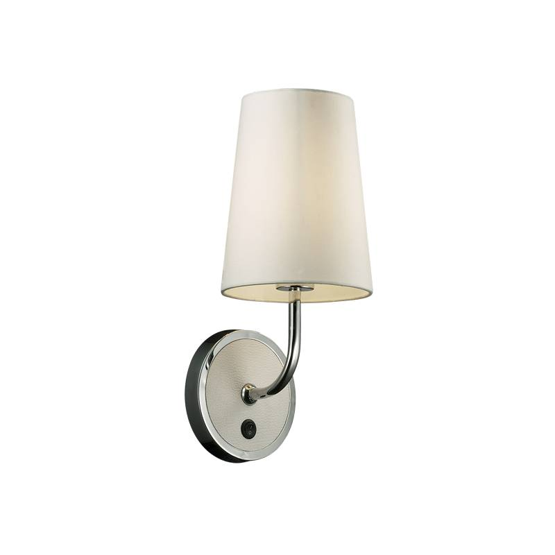 Lampu Dinding / Wall Lamp White T/c Fabric Shade